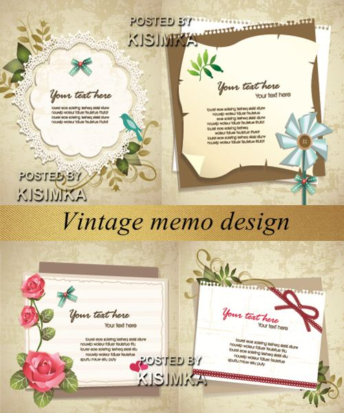Stock: Vintage memo design