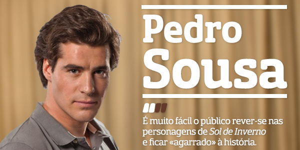 Destaque Pedro  Sousa Protagonista De «Sol De Inverno» Aderiu Ao Facebook