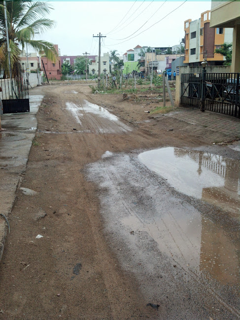 Eroded Road in Sarthy Nagar, Velachery