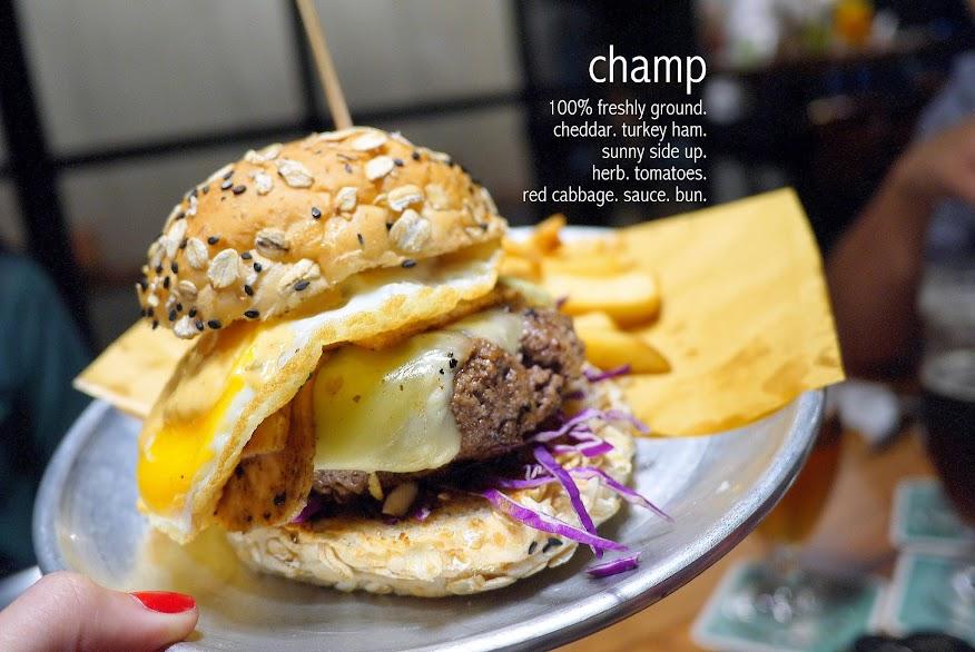 Buns. Burger Bar Champ