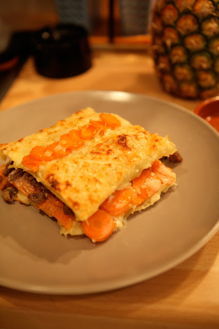 Le blog de cuisine paris vietnam recette originale lasagne de carottes et petit hachis d 39 agneau - Cuisine originale recette ...