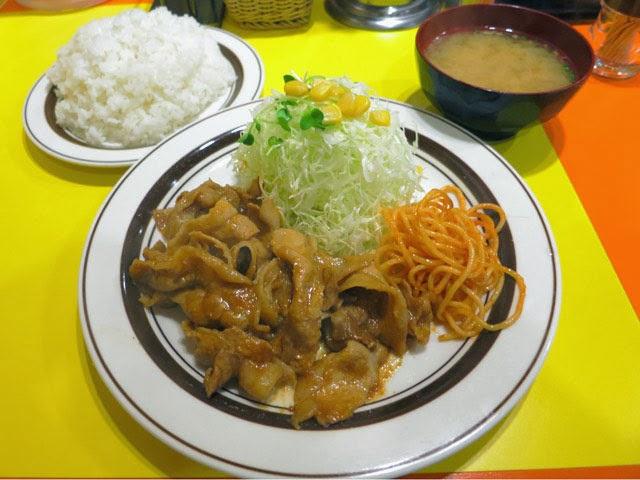 大盛りポーク焼肉定食