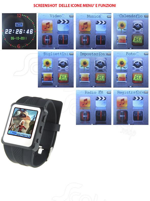 Orologio lettore mp3 mp4 txt bigliettino radio fm ebook - Lettore file mp4 ...