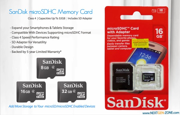 Illustration Image of microSDHC Retail Packaging