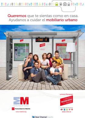 Campaña de concienciación contra el mal uso de las marquesinas de autobuses