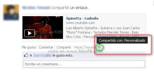 compartido, Facebook, 2012, personalizado