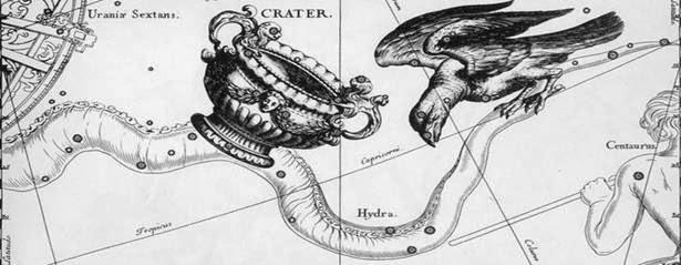 Ворон, однако, задержался у смоквы, ожидая, пока созреют плоды, а потом пытался оправдаться, ссылаясь на водяную змею (гидру), не пускавшую его к реке