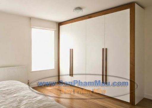 Tủ áo lớn màu trắng trong phòng ngủ