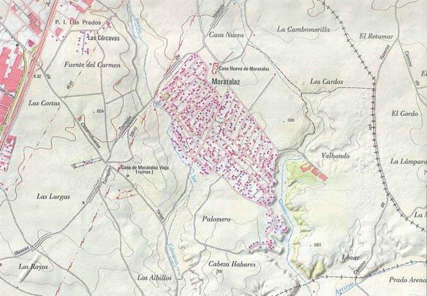 Mapa actual de la dehesa de Moratalaz