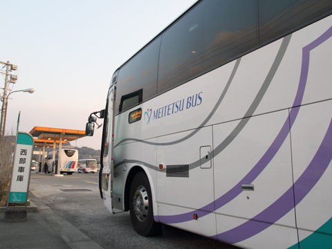 名鉄バス「不知火号」 2607 リア 九州産交バス西部車庫到着