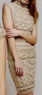 Vestido con trenzas