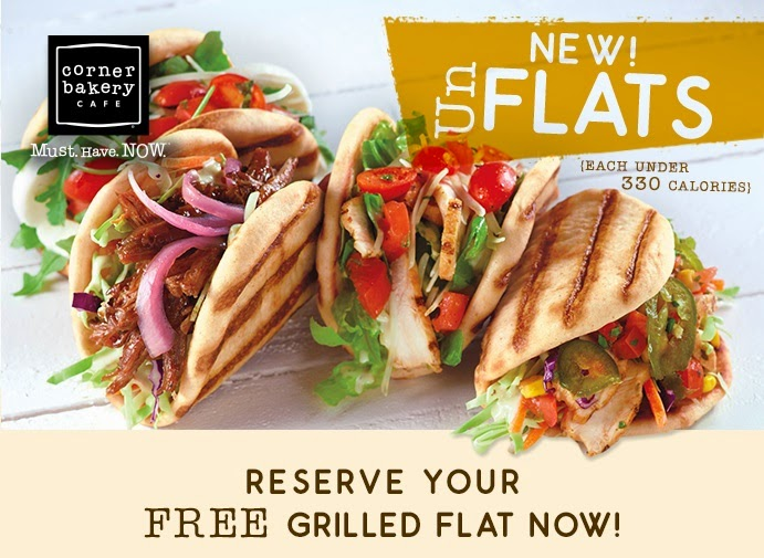 FREE Corner Bakery Cafe Grilled Flat