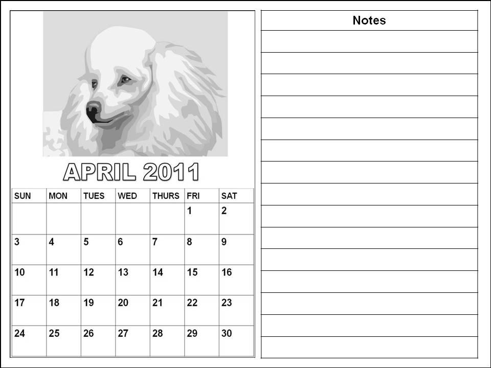 blank calendar april 2011. lank 2011 calendar april.