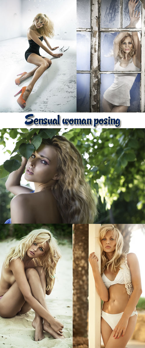 Stock Photo: Sensual woman posing