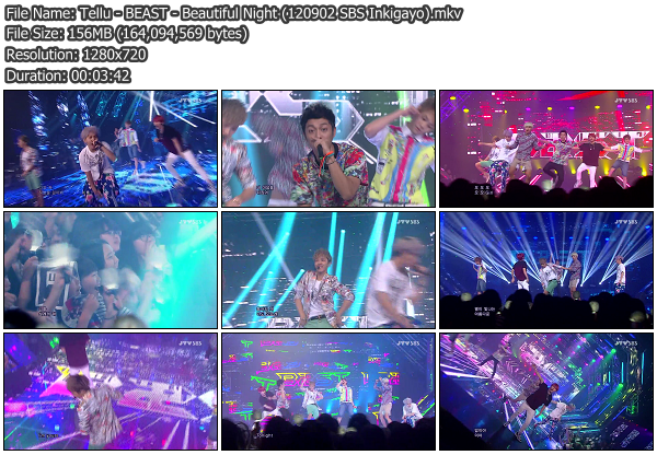 [Perf] BEAST   Egg Song + Beautiful Night @ SBS Inkigayo 120902