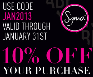 Save 10% with Code JAN2013 on SigmaBeauty.com