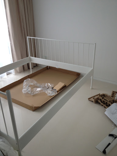 one of the reasons i was not a fan of the white of the leirvik bed frame has to do with the fact that i really did not want to bring anymore