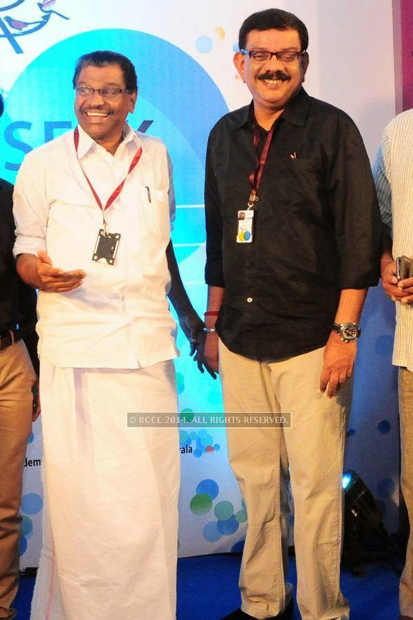 Thiruvanchoor Radhakrishnan and Priyadarshan during the International Documentary and Short Film Festival, held at Trivandrum.