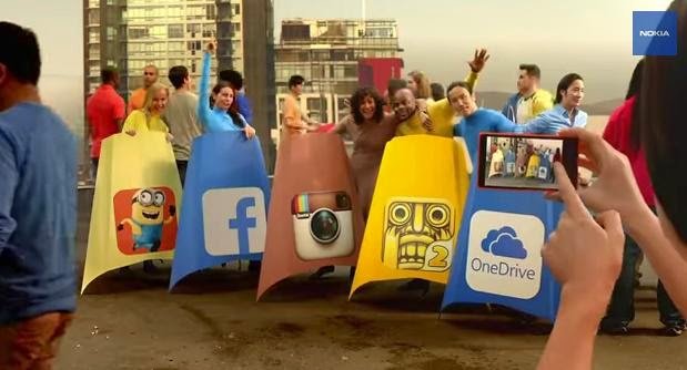 Latest Nokia X2 Ad Has Our Fav Apps Jumping Off Buildings