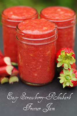 Within the Kitchen: Easy Strawberry Rhubarb Freezer Jam