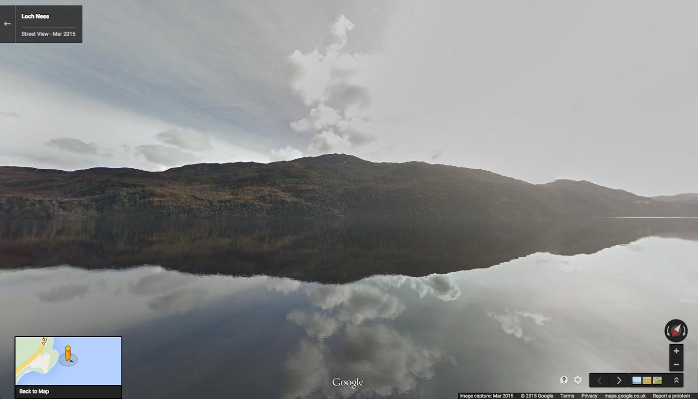 Google Maps StreetView Nessie