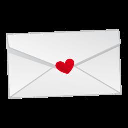 Liefdes brief met hartje afbeelding