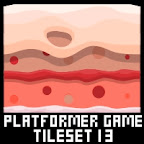 Candy land Platformer Game Tile Set