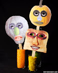 These collage masks are hilarious!  This could be such a fun party activity- with a prize for the most bizarre?