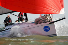 Fun sailing on summer winter sailing series in England