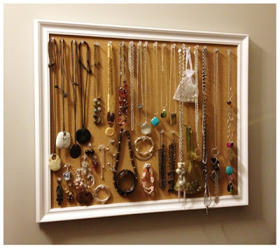 Cork Board Jewelry Organization Storage Display