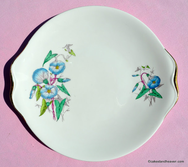 Flower of the Month Morning Glory Cake Plate