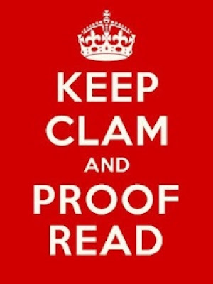 Funny Keep Calm Clam Proof Read Image