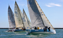 J/125 sailboats- sailing Newport Beach to San Diego Islands Race