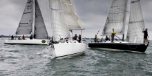J/105s one-design sailboat- sailing UK Nationals in England