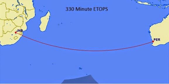 ETOPS 330분으로 비행하는 경우