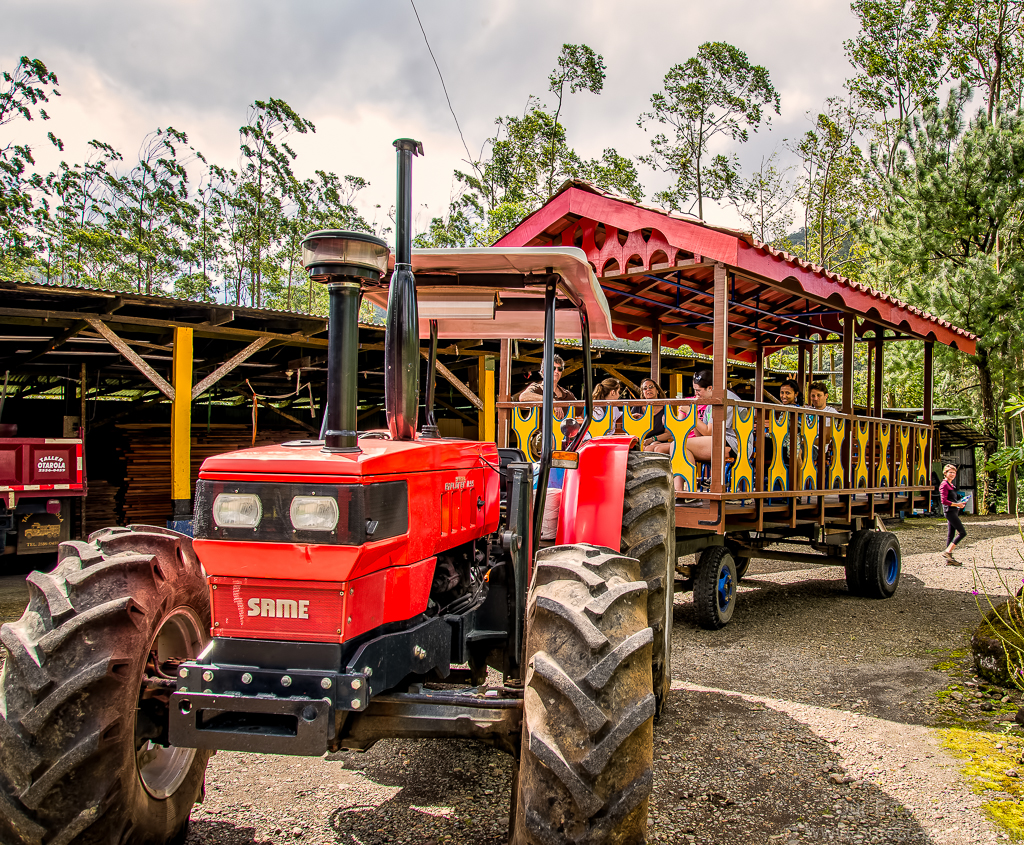 We took the tractor back to the Arenal Observatory Lodge