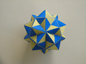 "30-Unit Structure made from 30 Flat Units on pages 8-13 of Tomoko Fuse's ""Floral Origami Globes"""