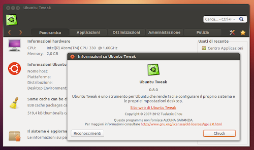 Ubuntu 12.10 - Ubuntu Tweak