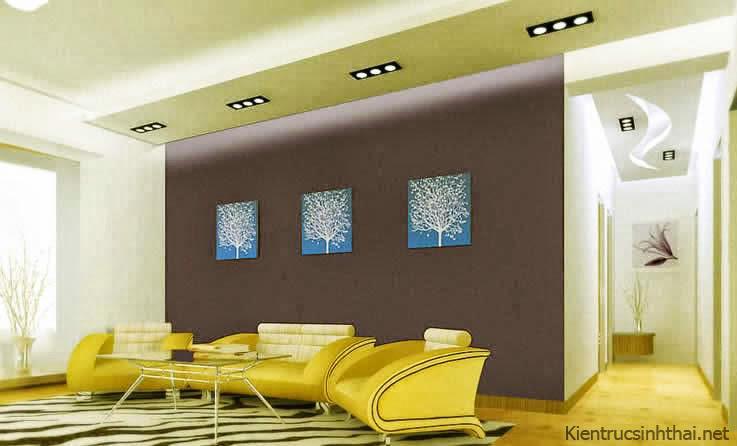 Mẫu phòng khách ấn tượng, sắc màu