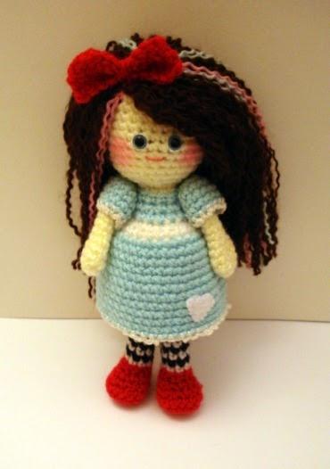 AllSoCute Amigurumis: Cute Curly Hair Amigurumi Girl ...