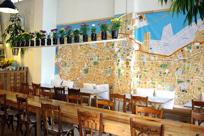 Interior of Tawlet restaurant in Beirut Lebanon