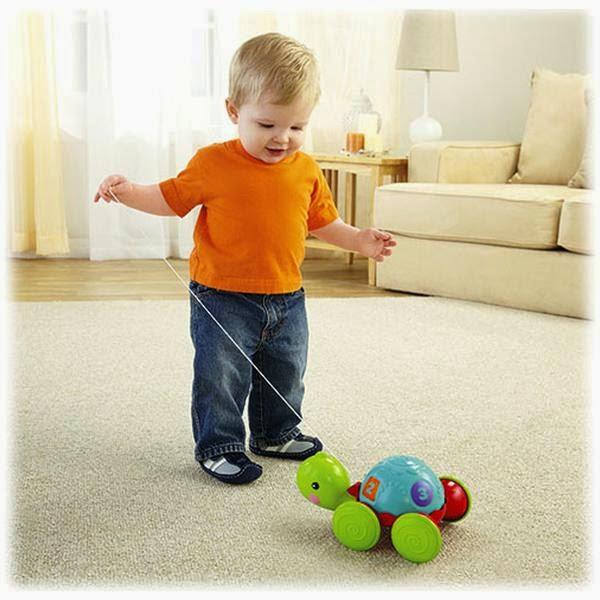 Đồ chơi Xe kéo Rùa con Pull-Along Turtle là món đồ chơi rất bổ ích và lý thú