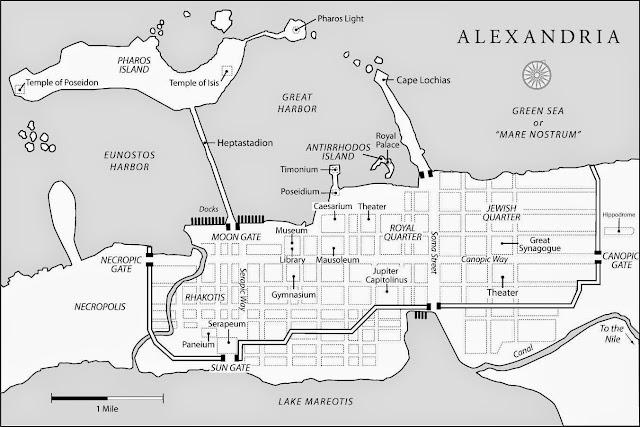Historia de las civilizaciones: Plano de la Antigua Alejandría