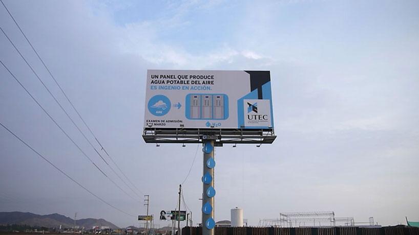 *祕魯會蓄水的廣告招牌:流出乾淨的飲用水! 1