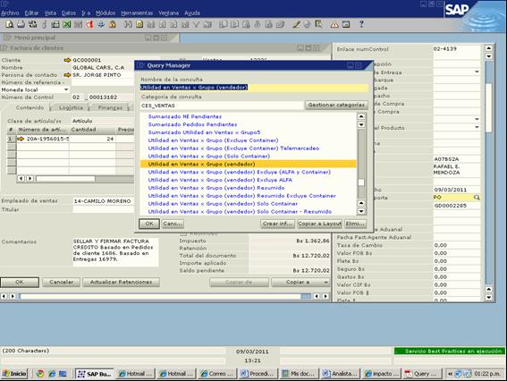 procesos de facturacion en sistema sap  reportes del