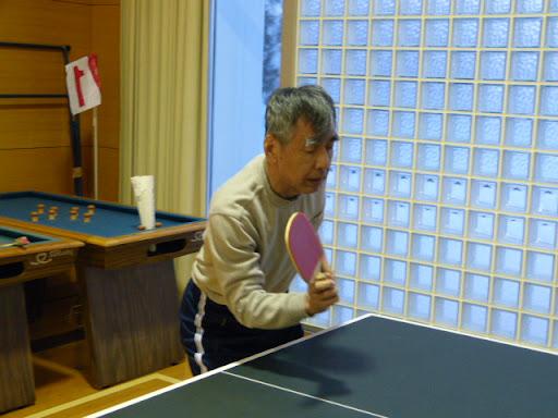 卓球をしました
