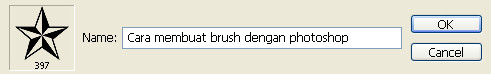 membuat brush pada photoshop