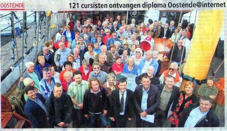 Eind juni 2012 - Getuigschriftuitreiking op de Mercator