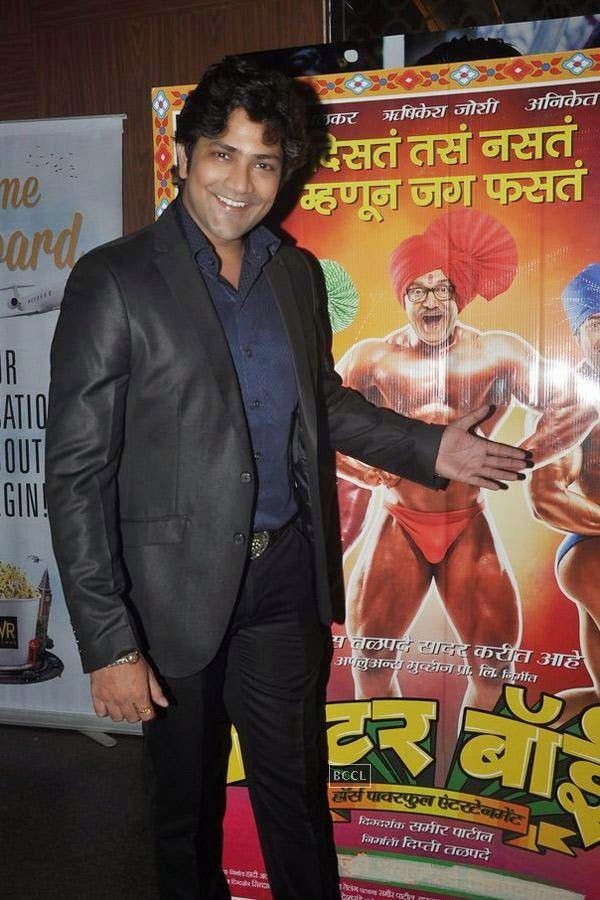 Aniket Vishwasrao during the screening of Poshter Boyz, in Mumbai, on July 30, 2014. (Pic: Viral Bhayani)
