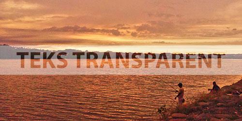 Menambahkan teks transparent pada foto dengan photoshop